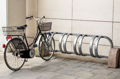 Bicycle ready for Use. Perspective of a generic bicycle ready for use Royalty Free Stock Images