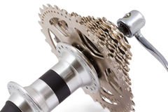 Bicycle rear hub Royalty Free Stock Photo