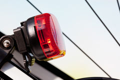 Bicycle, rear light, LED light. Bicycle, rear light with LED light Stock Photography