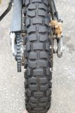 Bicycle rear wheel chain and brakes Stock Image