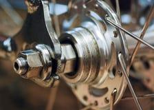 Bicycle rear wheel Stock Photo