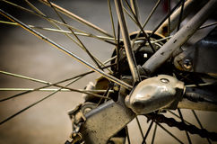 Bicycle rear wheel Stock Photos