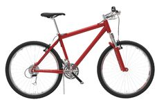 Bicycle Red - Side View Royalty Free Stock Photo