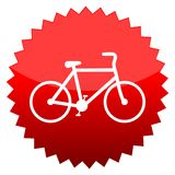 Bicycle, Red sun sign Royalty Free Stock Images
