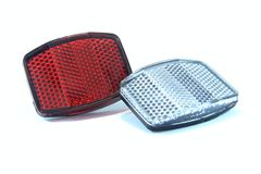 Bicycle reflector. On the white background Royalty Free Stock Image