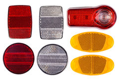 Bicycle reflectors isolated on white Stock Photos