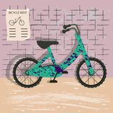 Bicycle rent illustration vector illustration