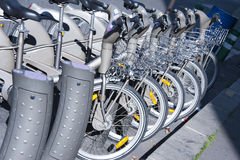 Bicycle rental Royalty Free Stock Photo