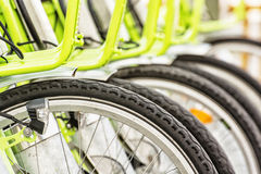 Bicycle rental in the centre of Budapest Royalty Free Stock Photography