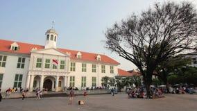 Bicycle rental, kota, jakarta, indonesia stock video footage