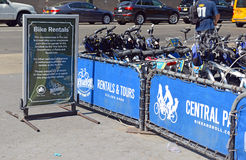 Bicycle rental program in Manhattan Royalty Free Stock Photo