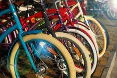 Bicycle rental stock image