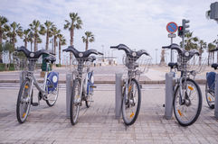 Bicycle rental station Stock Image
