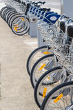 Bicycle rental station Royalty Free Stock Photo