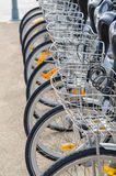 Bicycle rental station Royalty Free Stock Photos