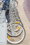 Bicycle rental station Stock Photography