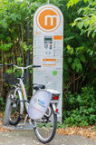 Bicycle Rental Station Stock Photo
