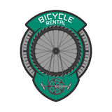 Bicycle rental vector logo Stock Photos