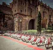 Bicycle rentals in Barcelona Royalty Free Stock Photography