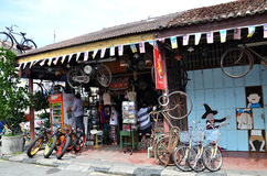 Bicycle renting service available in Georgetown, Penang Stock Photos