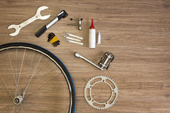 Bicycle repair background Royalty Free Stock Images