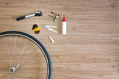 Bicycle repair background Stock Image