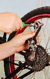 Bicycle repair. Royalty Free Stock Photos