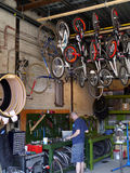 Bicycle repair shop Stock Image