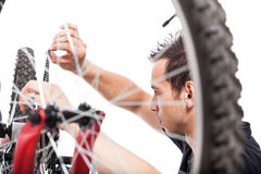 Bicycle repair Stock Photo