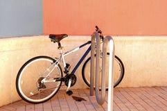 Bicycle in retail strip center Stock Photos