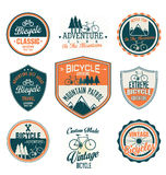 Bicycle retro badges and labels collection. Bicycle retro vintage badges and labels collection Stock Photo