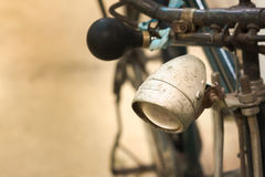Bicycle Retro. Close up old bicycle lamp Royalty Free Stock Image