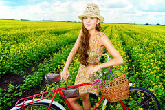 Bicycle retro Stock Images