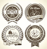 Bicycle retro vintage badge collection. Bicycle brown retro vintage badge collection Royalty Free Stock Images