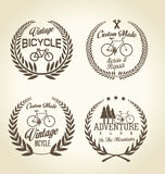 Bicycle retro vintage badge collection. Bicycle brown retro vintage badge collection Stock Image
