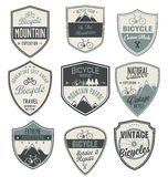 Bicycle retro vintage badge collection Royalty Free Stock Images