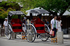 Bicycle rickshaw for Japanese people and traveler foreigner sit Stock Photography