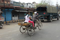 Bicycle or Rickshaw Taxi Stock Photography