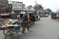Bicycle or Rickshaw Taxi Royalty Free Stock Image