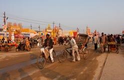 Bicycle rickshaws on the street Royalty Free Stock Image