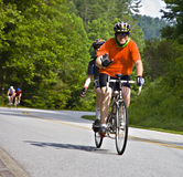 Bicycle Ride Across Georgia. CLAYTON, GA - JUNE 9 : Unidentified cyclists in the annual Bicycle Ride Across Georgia, June 9, 2012, the Lake Burton area of Rabun Stock Image