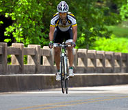 Bicycle Ride Across Georgia. CLAYTON, GA - JUNE 9 : Unidentified cyclist in the annual Bicycle Ride Across Georgia, June 9, 2012, the Lake Burton area of Rabun Stock Images