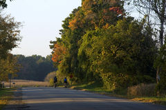 Bicycle ride in the country. Late afternoon bicycle ride in the country Stock Photos