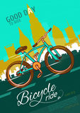 Bicycle Ride Poster Stock Image