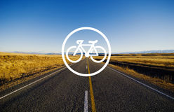 Bicycle Riding Bike Transportation Icon Concept Stock Photography