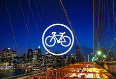 Bicycle Riding Bike Transportation Icon Concept Stock Photos