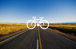 Bicycle Riding Bike Transportation Icon Concept Royalty Free Stock Photography