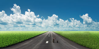 Bicycle on the road stock illustration