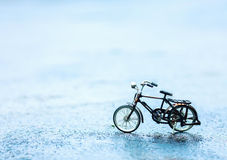 Bicycle in road concept objects. Bicycle in road concepts objects Royalty Free Stock Photos