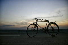 Bicycle in a Road Stock Images